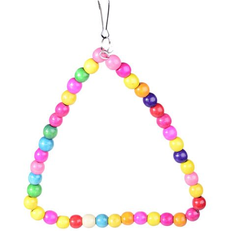 Colorful Rope Triangular Swing for 18CM Parrot Cage