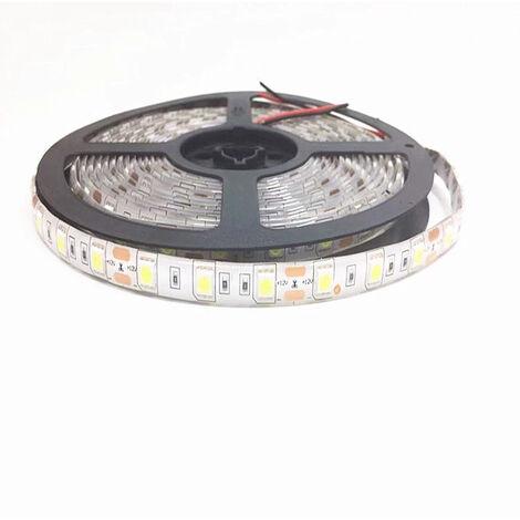 LED Strip Light 5M 5050 12V DC Waterproof Flexible 6000k LEDs for Lighting, Kitchen, Christmas, Indoor & Outdoor Decoration (Cool White)