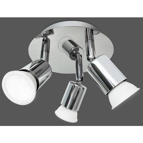 LED ceiling light bathroom design ceiling spots IP44 GU10 3 spots