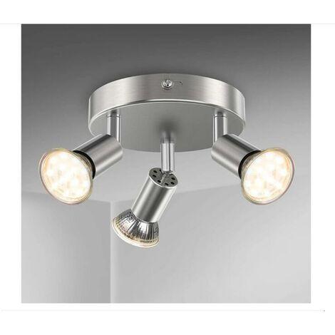 LED bathroom ceiling lamp lighting bathroom chrome ceiling lamp 3 orientable spots IP44 GU10