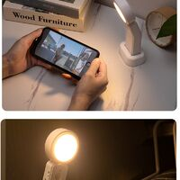 Father's Day Gift Automatic LED Night Light, Motion Sensor LED Light with 3 Mode (Auto / on / off), 360 ° Rotation Adjustable Mini USB Rechargeable Desk Closet Lamp for Hallway, Office, Wardrobe