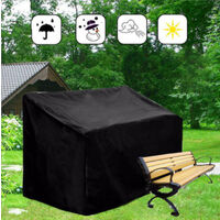 """Heavy duty patio sofa cover, 100% waterproof, 3-seater outdoor sofa cover, lawn patio furniture cover with vents and handles, 79"""" Wx 37"""" Dx 35"""" H,"""