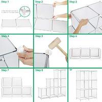 6 Cube closet storage rack storage rack Cube storage rack DIY plastic wall cabinet modular bookshelf to organize storage racks for bedroom, living room and office, black g