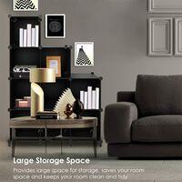 9 Cube closet storage rack plastic storage cube storage rack DIY closet storage rack storage cabinet modular bookshelf, suitable for bedroom, living room and office, black f
