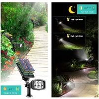 Outdoor solar light, upgrade 2 modes Solar light 2-in-1 waterproof solar spotlight automatic on/off solar wall light channel light courtyard garden swimming pool landscape lighting-cool white (2 pieces)