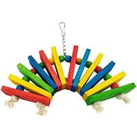Color wooden bird toy African grey parrot cage chew toy