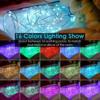 33 feet 100Led fairy tale lamp 16 colors 8 modes USB plug-in string lights Christmas lights with remote multi-color changing flashing fireflies lights Christmas decoration bedroom wedding party