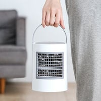 mobile air conditioner, mobile air conditioner, portable air conditioner, quick and easy way to cool personal area, suitable for night, office and study room. Wind speed setting, USB stick