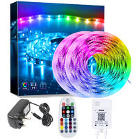 APP Controlled LED Strip Light, 5050 RGB LED Strip Light with Remote Control, Synchronize with Music Rhythm and Timer Function, Led Ribbon for Bedroom Home Kitchen Party