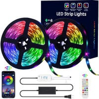 The new 5050led light belts set 15 meters 20M colorful 24 keys bluetooth music control