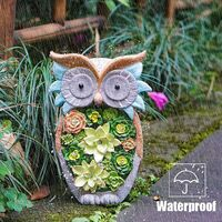 Garden Owl Statue-Outdoor Owl Garden Decorations Solar Figurine Light Animal Resin LED Light Lawn Statues for Garden Patio Lawn Yard Porch Ornaments,Decorations,Gifts, Art 10 x 6 Inch