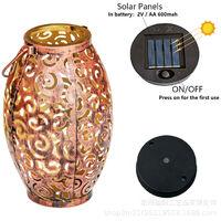 10 Ones Design Solar Light Outdoor Hanging Solar Lantern Garden Outdoor Solar Light with Handle Retro Metal Waterproof Patio Yard Pathway Decorative 1 Pc Bronze