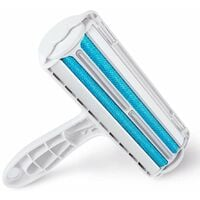 Pet Hair Remover Roller, Reusable Animal Hair Removal Brush for Dogs and Cats, Easy to Self Clean the Pet Fur from Carpet, Furniture, Rugs, Laundry, Clothes and bedding, Sofa - Blue