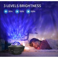 Galaxy Star Sky Projector - LED Alexa Planetarium ceiling projector, with bluetooth, remote control and 10 modes, room decoration for adults and children