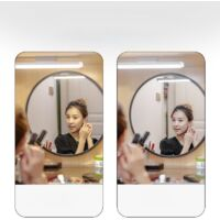 dimmable LED mirror light USB rechargeable makeup mirror light IP44 LED bathroom mirror for mirror, makeup, dressing table, bathroom [Energy class A +]