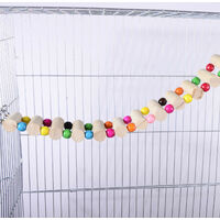 Bird Perch Support Toy, Wooden Swing Climbing Ladder Toys, Bird Cage Parrot Play Gyms