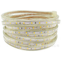 LED light pipe, LED pipe, light chain light bar 60LEDs / M pipe for indoor and outdoor IP65 8M warm white