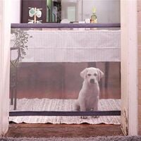 Extending Secure Fabric Pet Gate Mesh Gate Denim For Dogs
