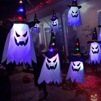 Halloween LED String Lights, Halloween Decoration Lights, Holiday Decoration Lanterns, Battery Models, 5 Pendants