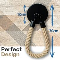 Toilet Roll Holder Industrial Wall Mounted Toilet Paper Shelf Vintage Hemp Rope Toilet Paper Holder for Bathroom and Kitchen Accessories 1pcs