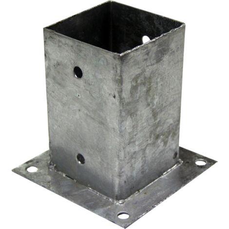 """Support - Pied à fixer pour poteau 9x9 cm """"TOP QUALITE"""" Galvanisé à chaud"""