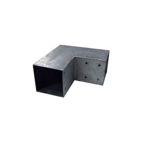 Connecteur 2D angles 90° pour poteau 9x9 cm
