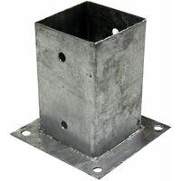 """Support - Pied à fixer pour poteau 9x9 cm Lot de 4 """"TOP QUALITE"""" Galvanisé à chaud"""