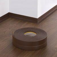 HOLZBRINK Plinthe Souple Autoadhésive Chocolat Plinthe pliable, 50x20 mm, 5 m -
