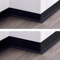 HOLZBRINK Plinthe Souple Auto-Adhésive Noire Plinthe Cassée PVC, 100x25 mm, 5 m - Noire