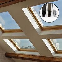 STEIGNER Joint de feuillure de battant Joint d'étanchéité de fenêtre Largeur de rainure 5 mm en TPE, 1m, NOIR, SFD14 - SCHWARZ