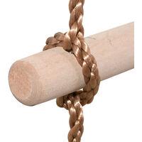 Escalera de Cuerda 6 Peldaños de Madera para Niños   Gimnasia Escalada Columpio - Cuerda Marrón