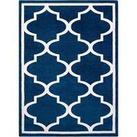 Alfombra SKETCH - F730 azul/blanco Enrejado Trébol marroquí Tonos de azul 240x330 cm