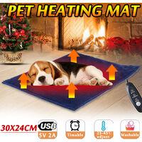 5V USB électrique vêtements chauffant feuille hiver en peluche coussinets chauffants plus chaud lit coussin trois températures en Fiber de carbone chat chien tapis