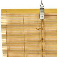 Store en Bambou, store enrouleur en bambou naturel Marron Clair  60 x 175 cm