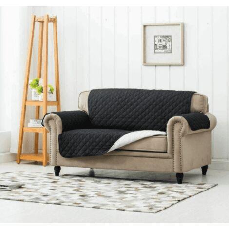 Sofa Protector Covers 2 Seat Sofa Cover- Black