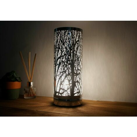 Silhouette Silver Tree Aroma LED Lamp