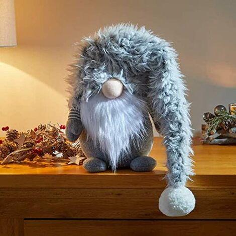 Grey Christmas Fabric Gonk 65cm (Winter Wilbert)