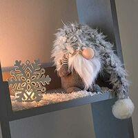 Grey Christmas Fabric Gonk 40cm (Winter Wilbert)