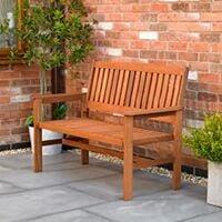 2 Seater Hardwood Garden Patio Bench