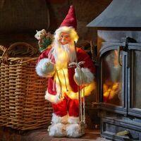 Christmas Red LED Santa Claus Figure 45cm