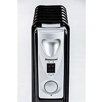 3000w 13 Fin Black Oil Filled Radiator with 3 Heat Settings Portable Energy Efficient Electric Heater
