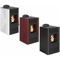 Pack Poêle à granules SUNNY 7 Etanche + Kit Conduit Vertical 80/125 - Bordeaux
