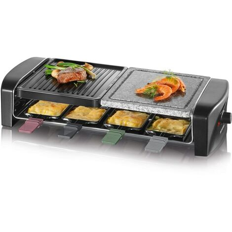 Severin Raclette Party Grill with Natural Grill Stone 8 Pans