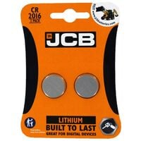 JCB CR2016 Lithium Battery Pack of 2