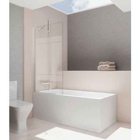 Panneau fixe baignoire SCREEN fijo 8 mm 150x85 Décoré: Frost Plus