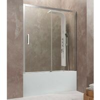 Frontale baignoire AKTUAL fixe + coulissant Décoré: Transparent cotes 136 - 142 cm