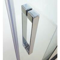 Paroi de douche PRESTIGE semi-circulaire 90x90 - Décoré: Transparent Rayon Standard - Cotes 86,5-89