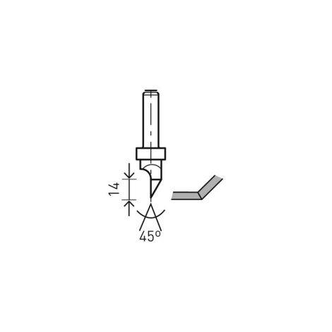 Festool 491000 Cutter V groove HW shank 8 mm HW S8 D12.5/45