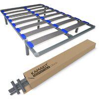 Colchón Mylos Biogel + Somier Desmontable KAMAKIT 40x30mm, Estabilidad y Fácil Montaje 90x190 - Gris Antracita