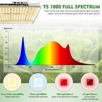 Mars Hydro TS1000W LED Grow Light Full Spectrum for Indoor Veg Flower Plant Lamp - Silver